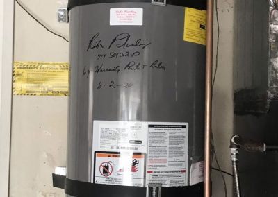 40 Gal Rheem Water Heater change out. City of Placentia, CA.