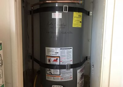 40 Gal Rheem Water Heater change out. City of Fullerton, CA.