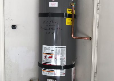 40 Gal Rheem Water Heater change out with new wood platform. City of Placentia, CA.