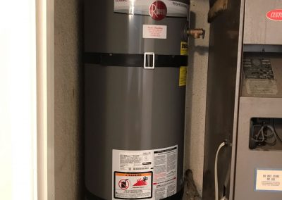 50 Gal Rheem Water Heater change out. City of Irvine, CA.