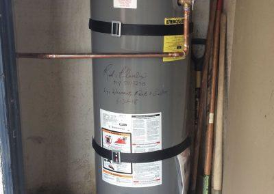 40 Gal Rheem Water Heater change out. City of Orange, CA.