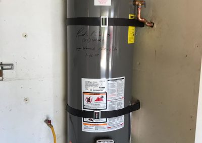 50 Gal Rheem Water Heater change out with new vent and wood floor. City of Fullerton, CA.