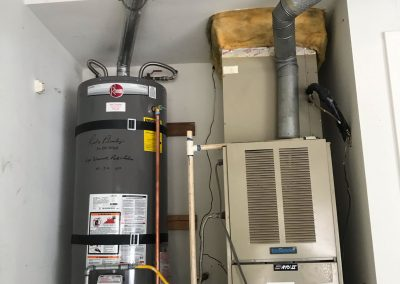 50 Gal Rheem Water Heater change out with new vent. City of Yorba Linda, CA.