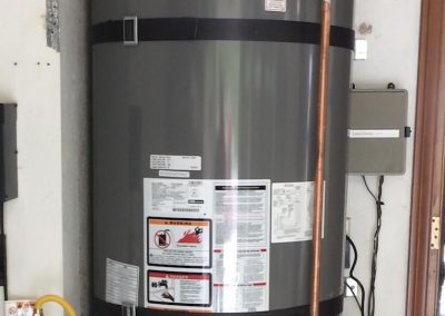 75 Gal Rheem Water Heater with Circulating Pump and new wood floor. City of Anaheim Hills, CA.