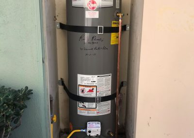 40 Gal Rheem Water Heater change out with new vent. City of Irvine, CA.