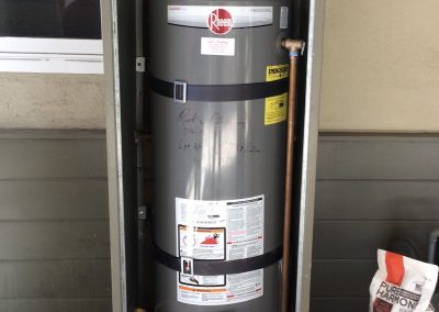 50 Gal Rheem Water Heater change out with new vent. City of Orange, CA.